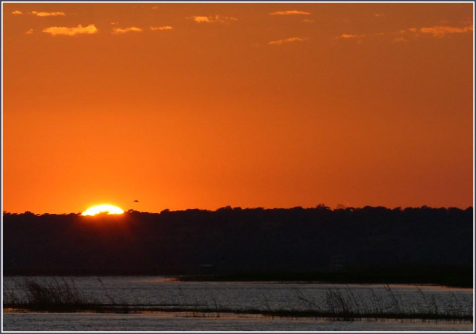 Sunrise over a river
