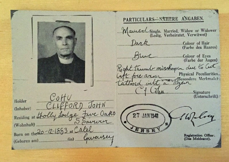 Replica ID card for Clifford Cohu