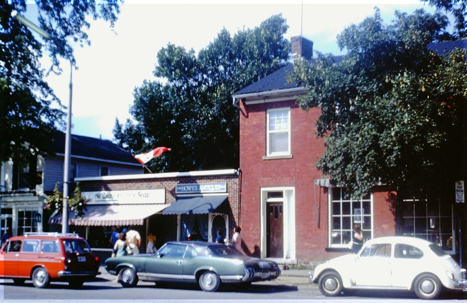 Old fashioned shops and old cars