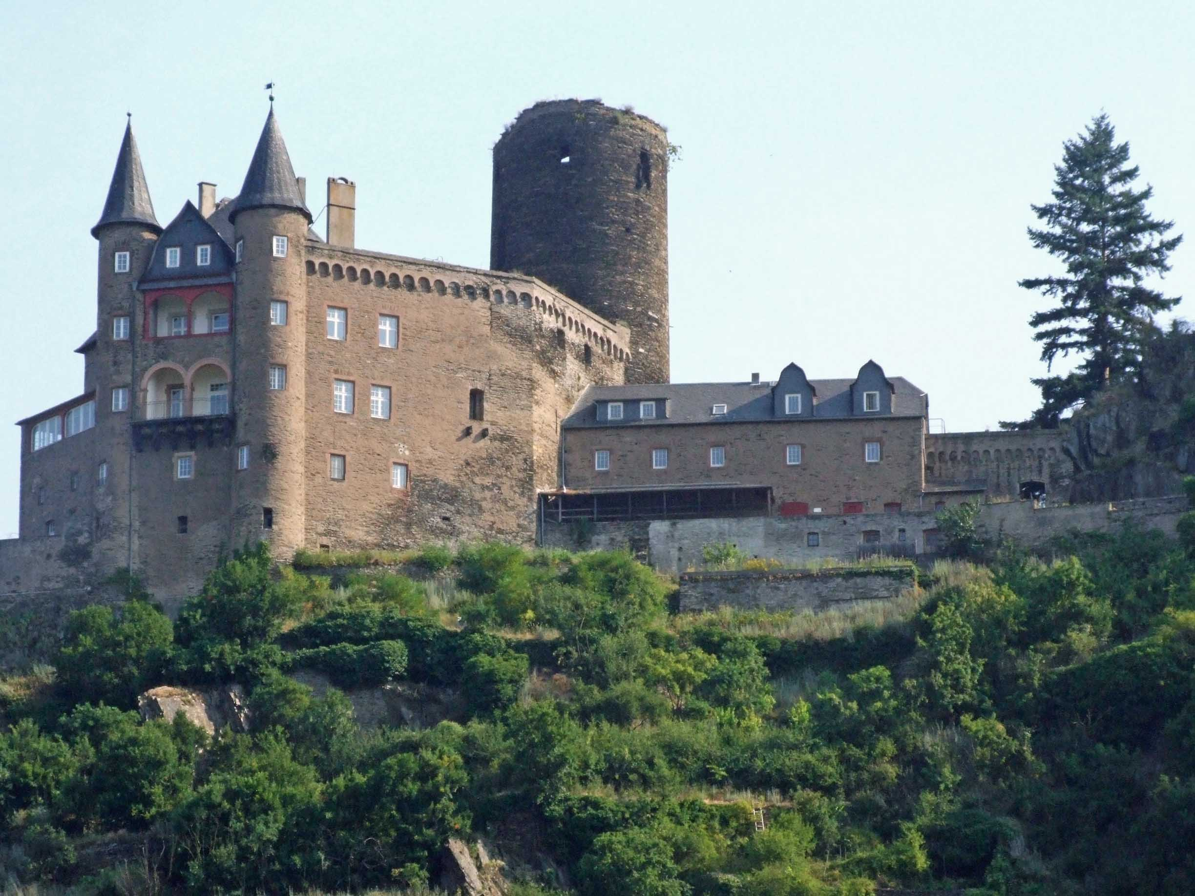Large castle on a hill top