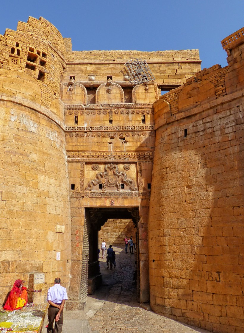 Ornate sandstone gate