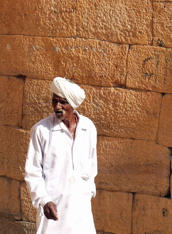 Man in white robe and turban