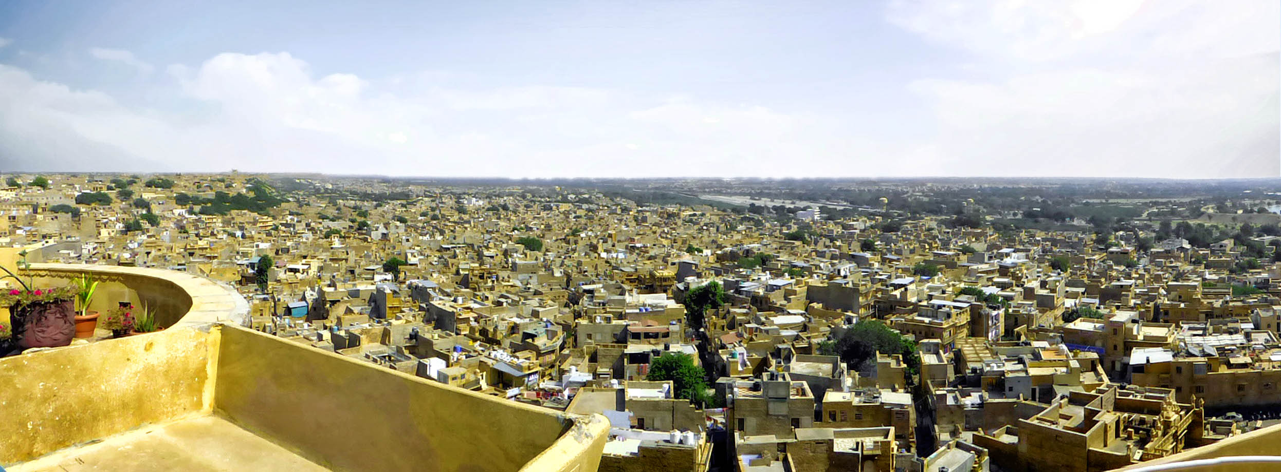Panorama of a town