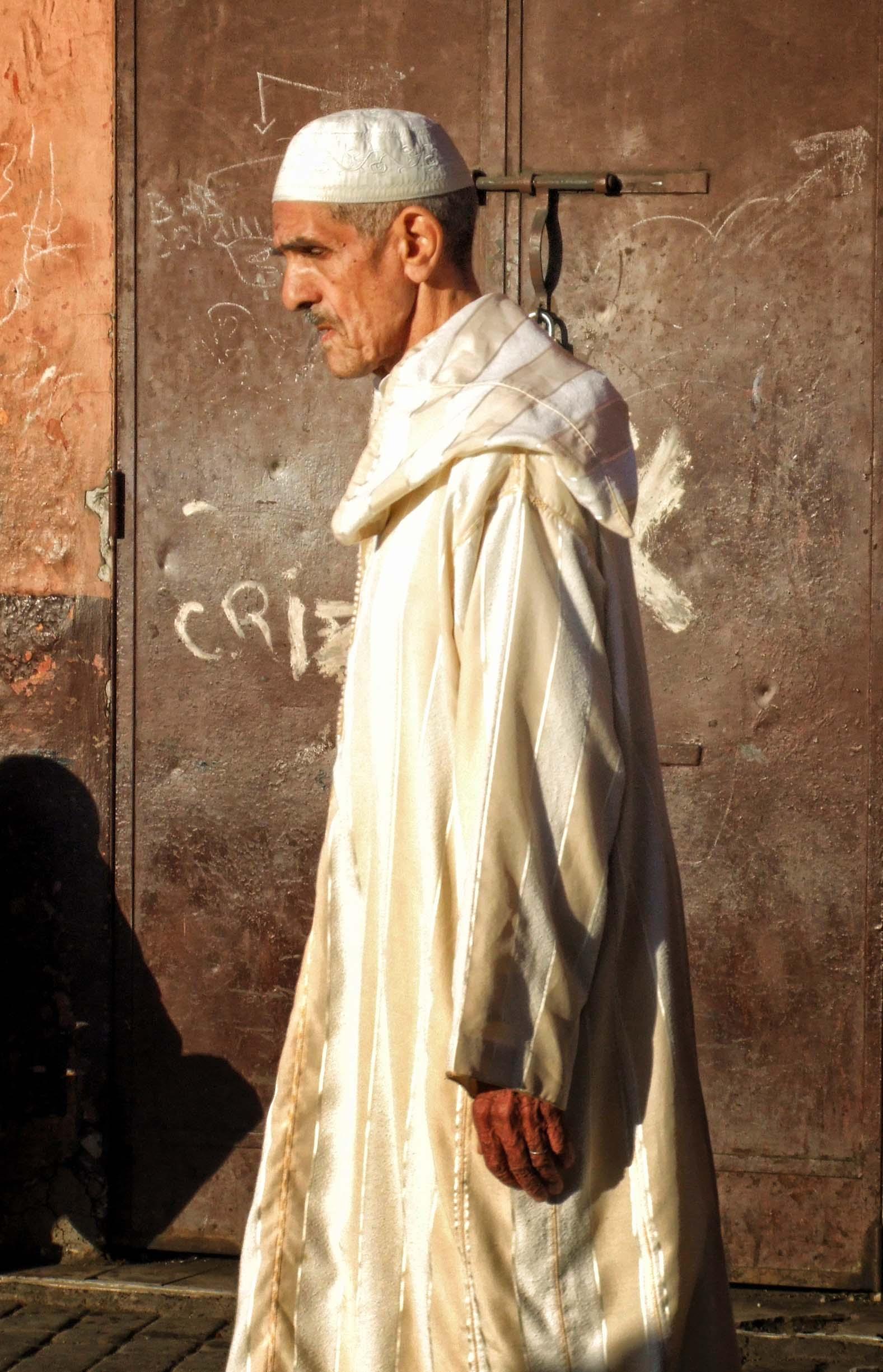 Man in white robe