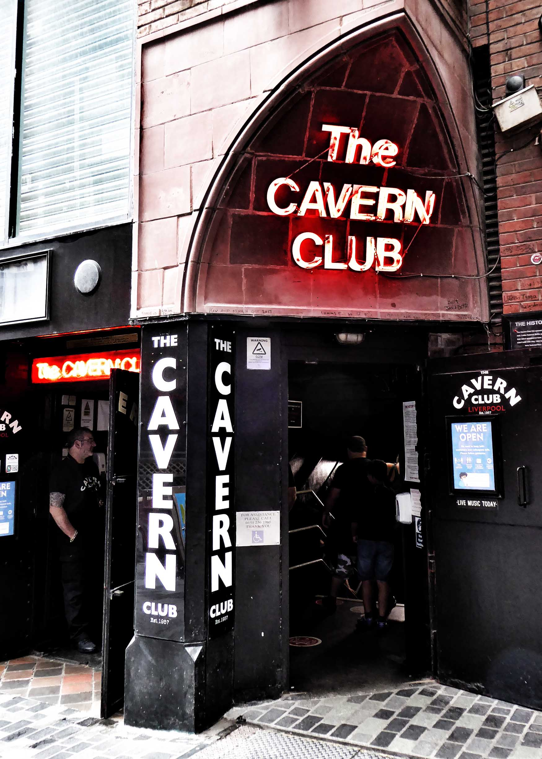 Doorway with Cavern Club sign above