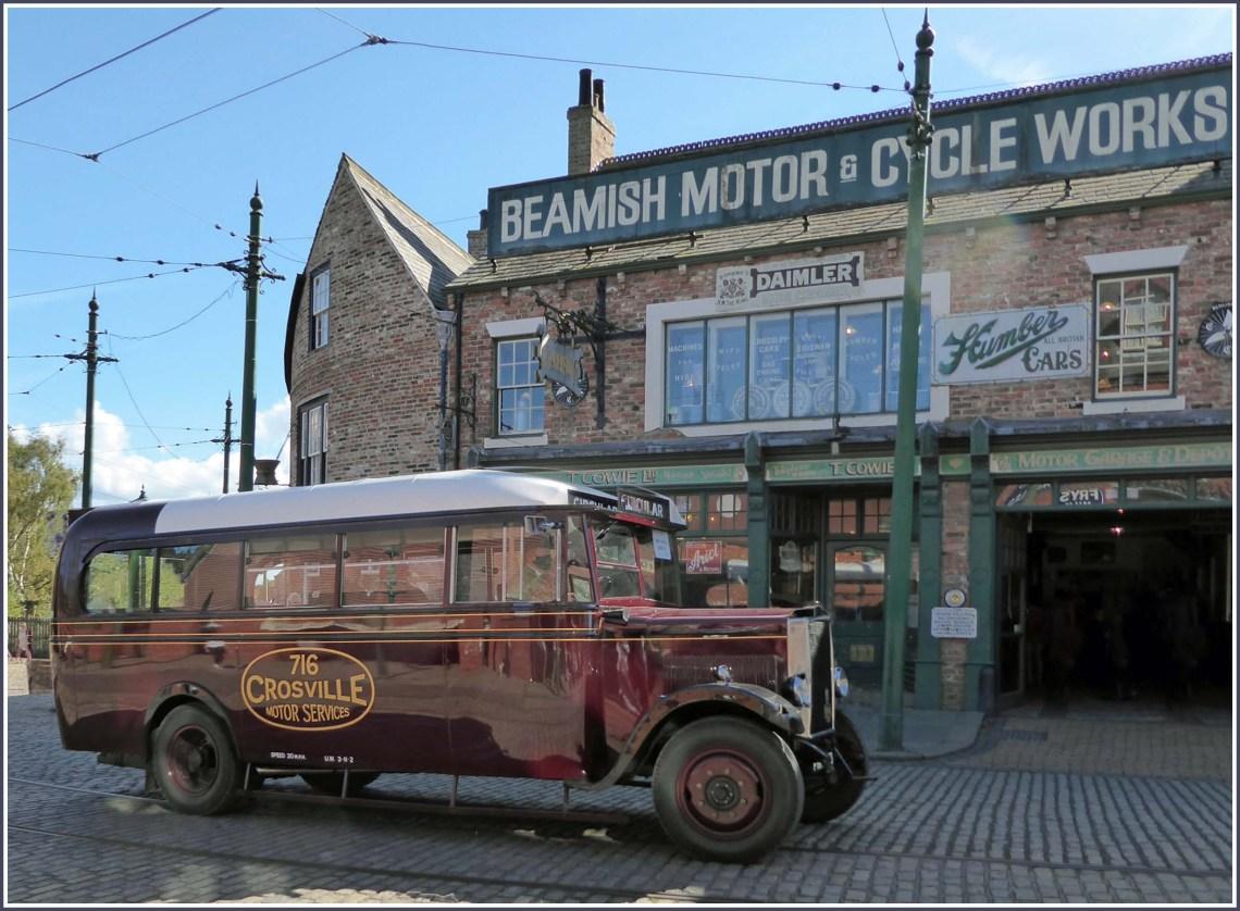 Old bus and motor garage