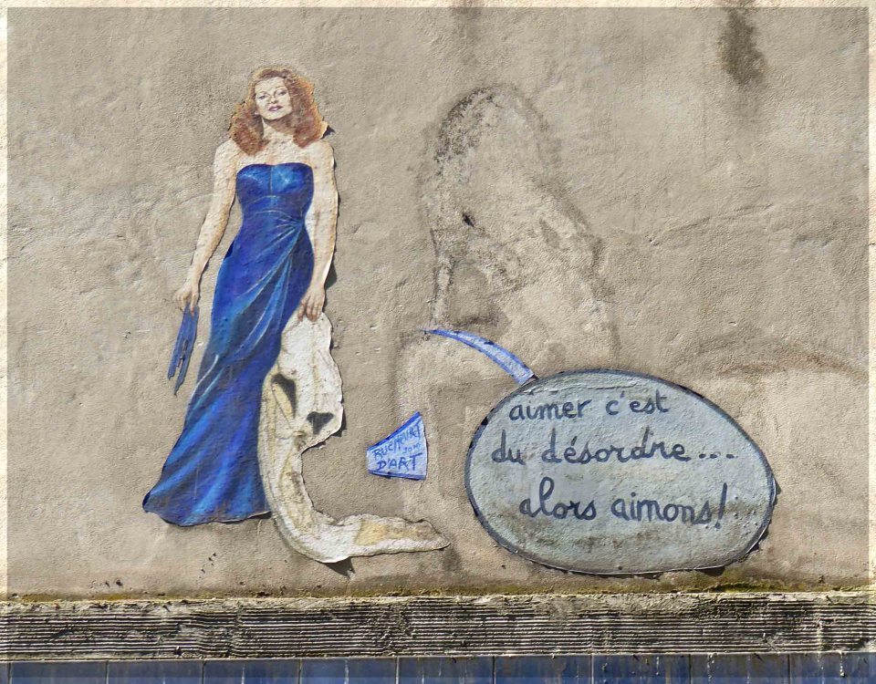 Picture of a woman in a blue dress