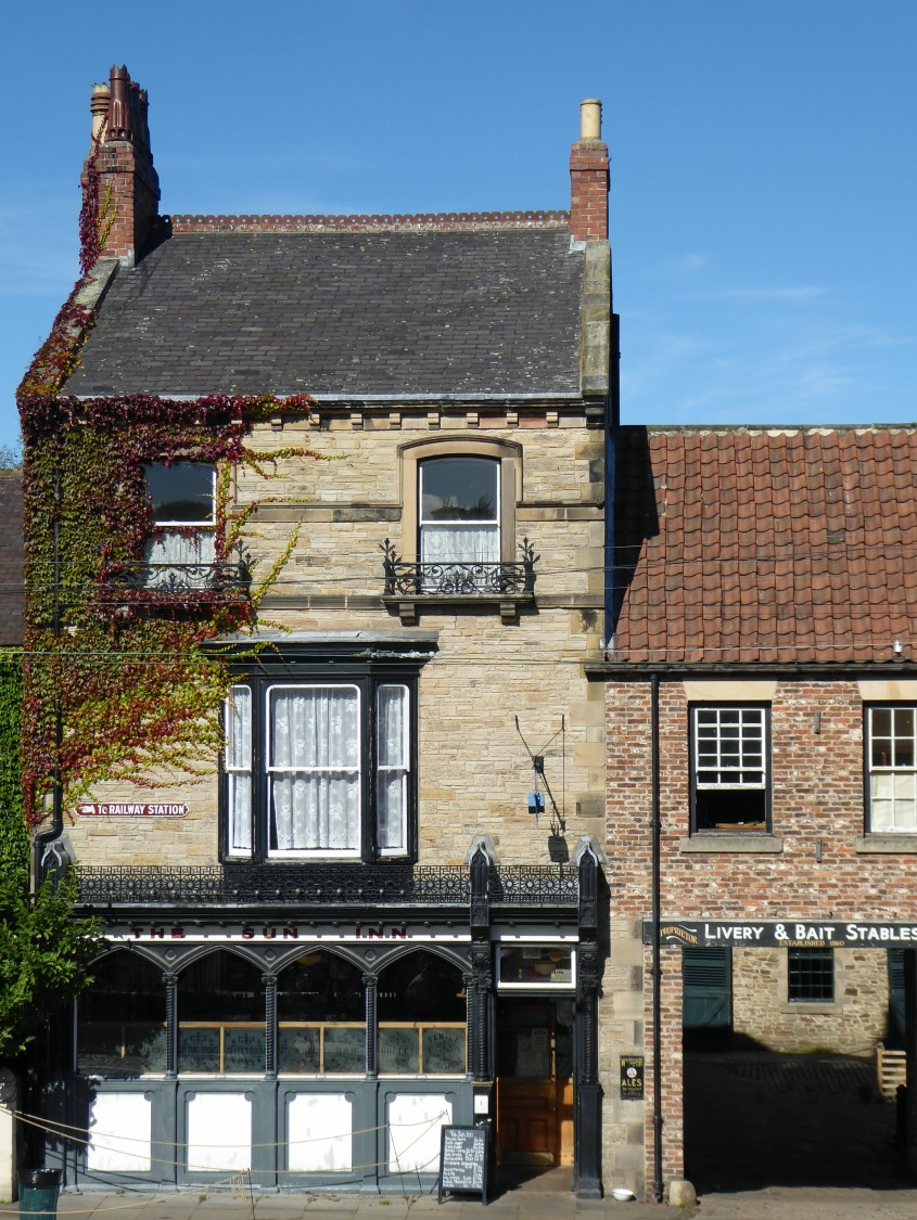 Exterior of small pub