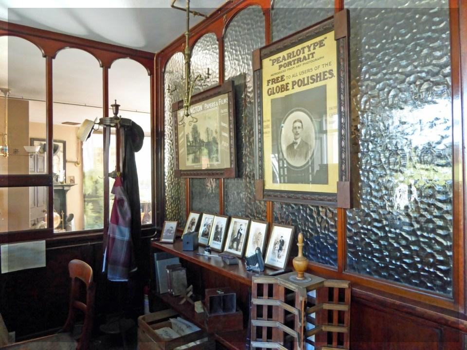 Old-fashioned photography studio interior