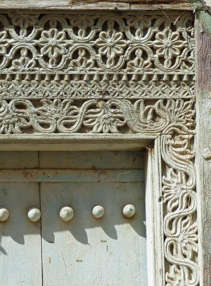Ornate carved door frame