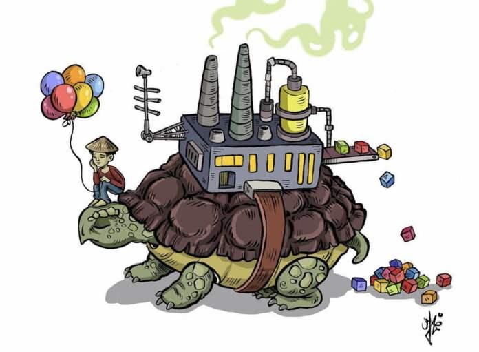 Industrial world, Cartoon by Latrache Yassin