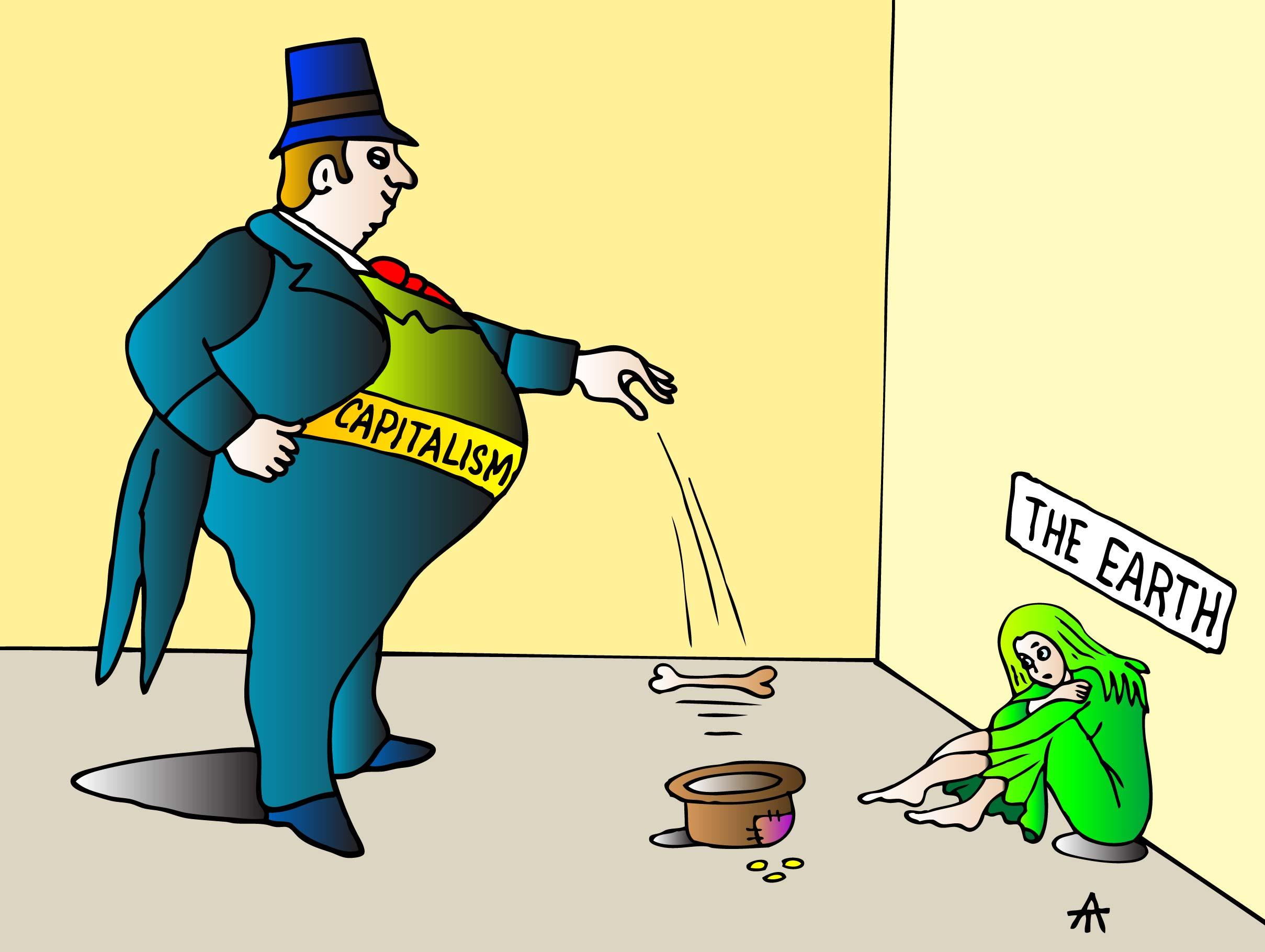 Capitalism Caricature