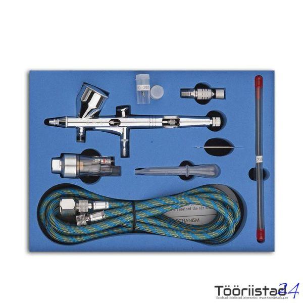 Aerograafi komplekt TG-180K düüsid 0.2 0.3 ja 0.5mm
