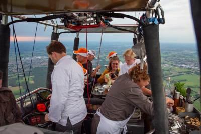 Culiair Sky Dining - In de luchtballon ©Kyonne Leyser
