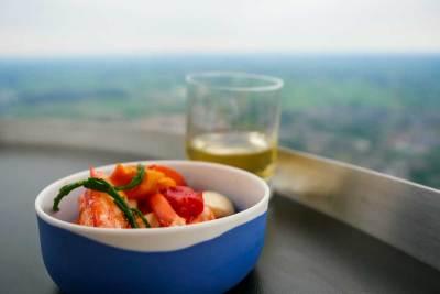 Culiair Sky Dining - kreeft ©Manon de Boer