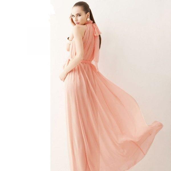 2018 New Maternity Dresses long Chiffon Dress Clothes For Pregnant Women 5