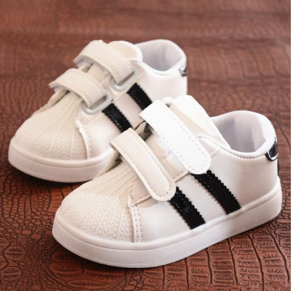 Children Shoes Girls Boys Sport Shoes Antislip Soft Bottom Kids Baby Sneaker Casual Flat Sneakers white Shoes size 21-30 2