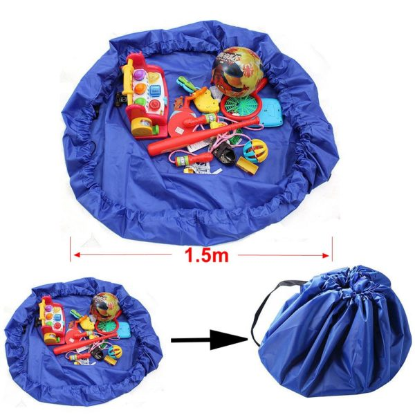 Hot Portable Waterproof Kids Children Infant Baby Play Mat Large Storage Bags Toy Organizer Blanket Rug Boxes Outdoor Pad Y0089 1