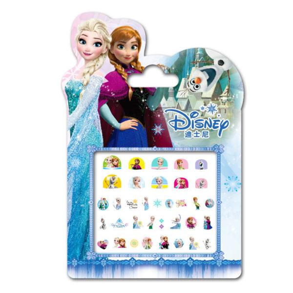 Frozen elsa and Anna  Makeup Toy Nail Stickers Toy Disney snow White Princess Sophia Mickey Minnie girls sticker for kids gift