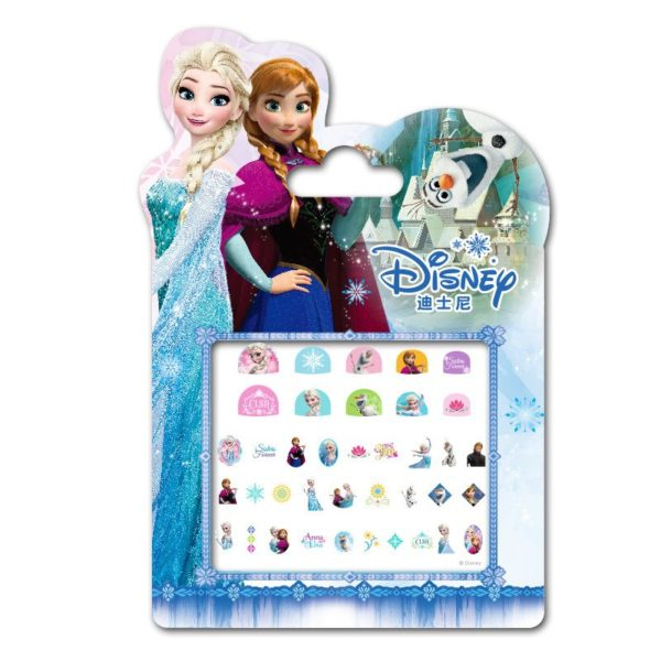 Frozen elsa and Anna  Makeup Toy Nail Stickers Toy Disney snow White Princess Sophia Mickey Minnie girls sticker for kids gift 5