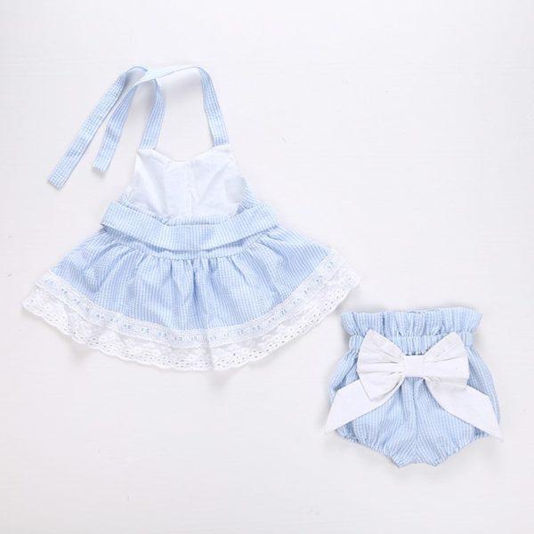 2pcs Newborn Baby Girls Bowknot Clothes 2018 Summer Striped Vest Tops + Bottoms Outfit Bebek Giyim Toddler Kids Clothing Set 1