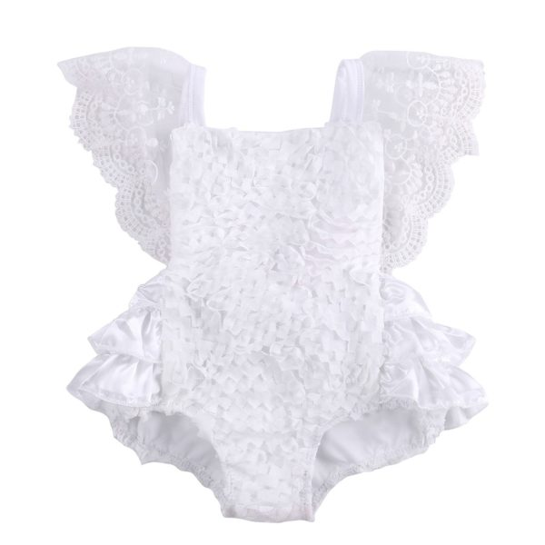 2018 Multitrust Brand Cute Newborn Infant Baby Girl Clothes Lace Tutu Romper Sleeveless Cake Sunsuit White Summer Outfits SS 5