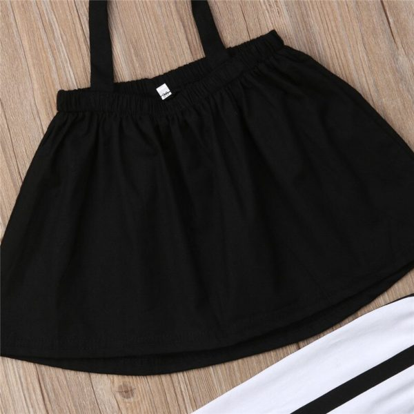 1-6Y Cute Girls Summer Clothing Kid Strap Tops+Striped Pants Leggings 2pcs Outfits Kids Fashion Clothes toddler girl clothes 3