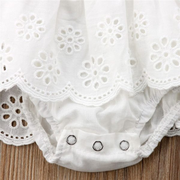 Cute Newborn Kids Baby Girl Infant Lace Romper Dress Jumpsuit Playsuit Clothes Outfits 5