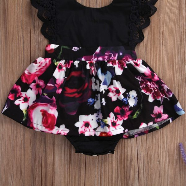 2018 FOCUSNORM Newborn Baby Infant Girl Romper Tutu Dress Headband Floral Outfits Party Dress 4