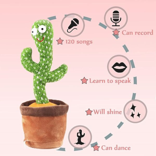 Dancing Cactus, Singing Cactus Toy, Cactus Plush Toy for Home Decoration and Children Playing Without Recording Function 5