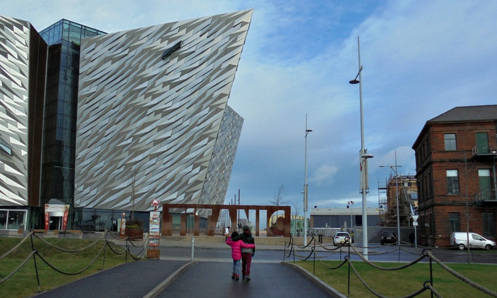 A Titanic trip to Belfast, ships, cranes, countryside and cushions