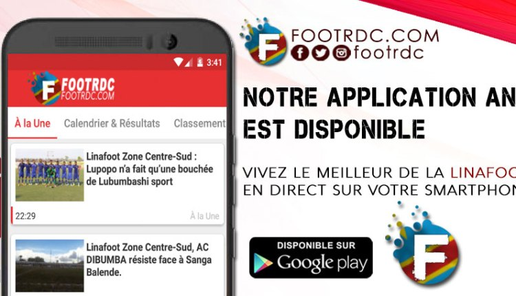 Tootiye Solutions lance l'application mobile Foot RDC 15 Novembre 2017