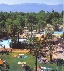 Large crowds hang out at La Sirene's large pool