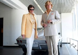 """""""Do I look too gay in this?"""" Michael Douglas as Liberace and Matt Damon as his boyfriend camp it up."""