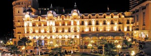 Underground Institution: The front of the Hotel de Paris at night
