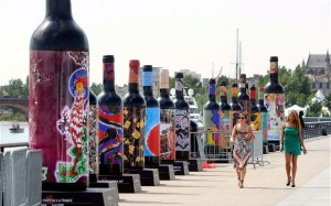 "Bottles and Bottles of it: Visitors get a taste of what the biennial ""Bordeaux-Fête-le-Vin"" festival is all about"