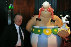 Albert Uderzo with one of his creations Obelix