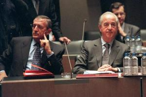 Another Fine Mess? Edouard Balladur (r) and François Léotard may soon have their day in the Cour de justice de la République along with former president Nicolas Sarkozy