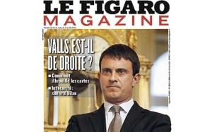 """Is Valls right-wing?"" asks this headline in Le Figaro Magazine"