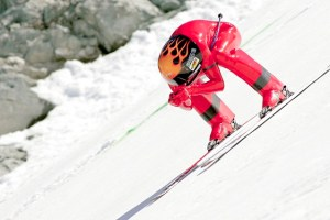 Human Ski: Fastest skier alive Simone Origone in action.