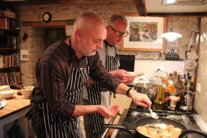 """""""If we were running a restaurant, we'd have to be open all the time..."""" Instruction in the kitchen was the optimum life-work balance for Niall and Poul."""