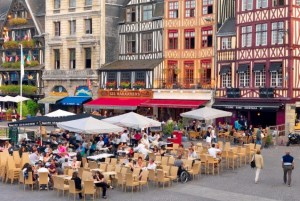 Rouen has great restaurant choices - the Place du Vieux Marché