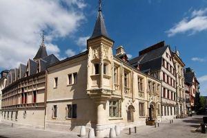 The corner tower as seen from Place de la Pucelle
