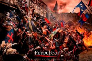 "Finished product: A ""painted"" scene from one of the Puy du Fou's new campaign posters"