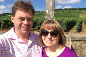 Selfie in Santenay: Raymond and his wife Fionnuala are both freelancers and spend lots of time in their home in Burgundy
