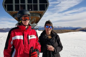 Nice Snow: Conor Power gets shown around by Claire Manzoni of the Valberg Tourist Office