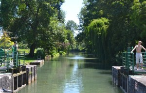 The lock-keepers: it makes sense to bring your children - if nothing else, they're good at operating the locks