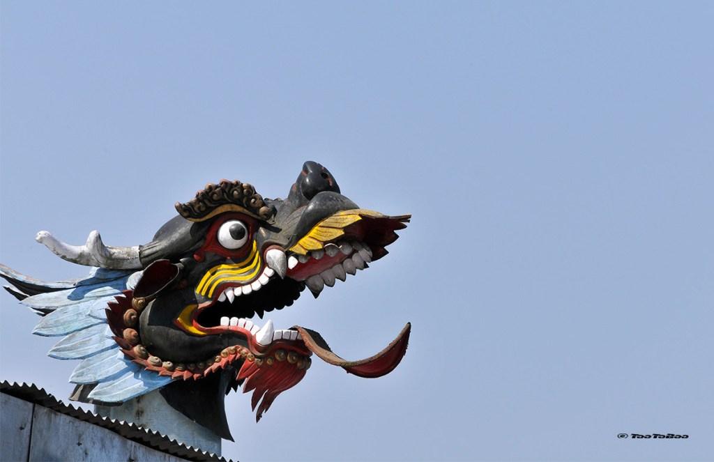 Toit d'un monastère au Sikkim