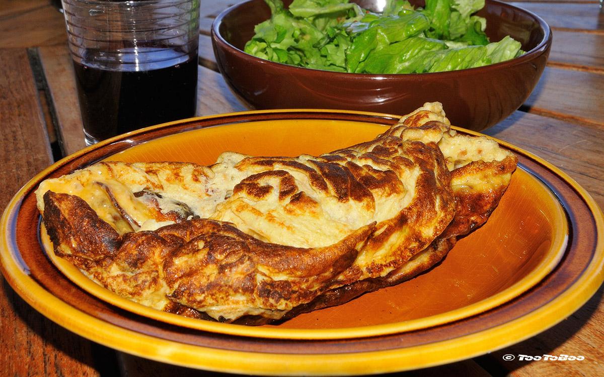 Omelette aux Cèpes-Spécialité Ardéchoise