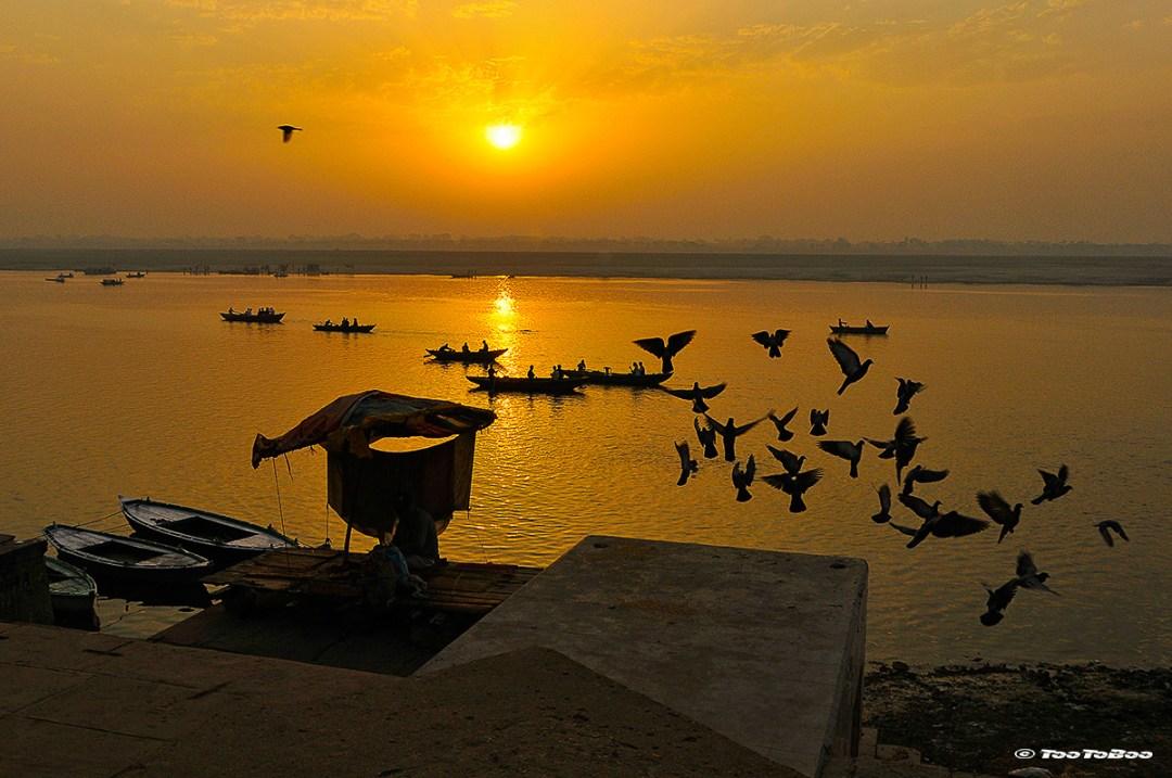 Coucher du soleil à Varanasi